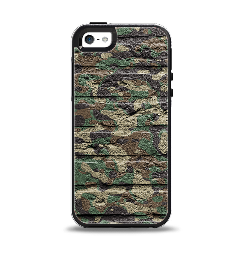 free shipping 9b7c6 b3519 The Vibrant Brick Camouflage Wall Apple iPhone 5-5s Otterbox Symmetry Case  Skin Set