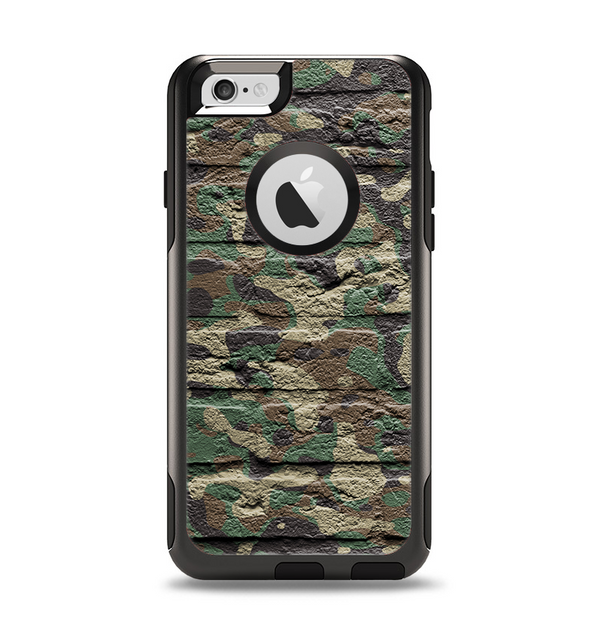 The Vibrant Brick Camouflage Wall Apple iPhone 6 Otterbox Commuter Case Skin Set