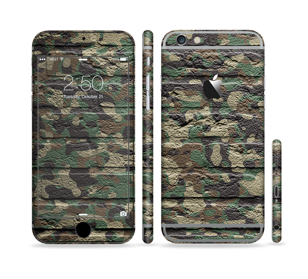 The Vibrant Brick Camouflage Wall Sectioned Skin Series for the Apple iPhone 6 Plus