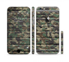 The Vibrant Brick Camouflage Wall Sectioned Skin Series for the Apple iPhone 6