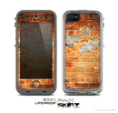 The Vibrant Brick Wall Skin for the Apple iPhone 5c LifeProof Case