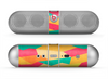 The Vibrant Bright Colored Connect Pattern Skin for the Beats by Dre Pill Bluetooth Speaker
