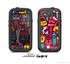 The Vibrant Burgundy Vector Shopping Skin For The Samsung Galaxy S3 LifeProof Case