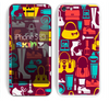 The Vibrant Burgundy Vector Shopping Skin for the Apple iPhone 5c