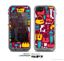 The Vibrant Burgundy Vector Shopping Skin for the Apple iPhone 5c LifeProof Case