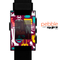 The Vibrant Burgundy Vector Shopping Skin for the Pebble SmartWatch