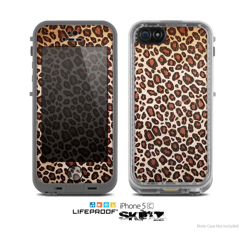 The Vibrant Cheetah Animal Print V3 Skin for the Apple iPhone 5c LifeProof Case