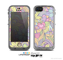 The Vibrant Color Floral Pattern Skin for the Apple iPhone 5c LifeProof Case