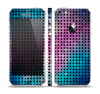 The Vibrant Colored Abstract Cells Skin Set for the Apple iPhone 5