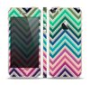 The Vibrant Colored Chevron Layered V4 Skin Set for the Apple iPhone 5s