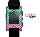 The Vibrant Colored Chevron Layered V4 Skin for the Pebble SmartWatch