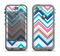 The Vibrant Colored Chevron Pattern V3 Apple iPhone 5c LifeProof Nuud Case Skin Set