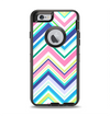 The Vibrant Colored Chevron Pattern V3 Apple iPhone 6 Otterbox Defender Case Skin Set