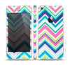 The Vibrant Colored Chevron Pattern V3 Skin Set for the Apple iPhone 5s