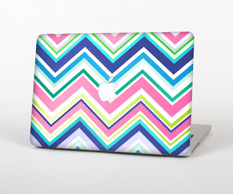 "The Vibrant Colored Chevron Pattern V3 Skin Set for the Apple MacBook Pro 15"" with Retina Display"