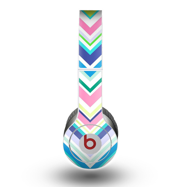 The Vibrant Colored Chevron Pattern V3 Skin for the Beats by Dre Original Solo-Solo HD Headphones
