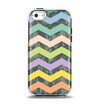 The Vibrant Colored Chevron With Digital Camo Background Apple iPhone 5c Otterbox Symmetry Case Skin Set