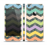 The Vibrant Colored Chevron With Digital Camo Background Skin Set for the Apple iPhone 5s
