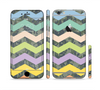The Vibrant Colored Chevron With Digital Camo Background Sectioned Skin Series for the Apple iPhone 6 Plus