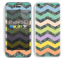 The Vibrant Colored Chevron With Digital Camo Background Skin for the Apple iPhone 5c