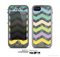 The Vibrant Colored Chevron With Digital Camo Background Skin for the Apple iPhone 5c LifeProof Case
