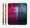 The Vibrant Colored Lined Surface Skin for the Apple iPhone 6