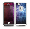 The Vibrant Colored Lined Surface Skin for the iPhone 5-5s fre LifeProof Case