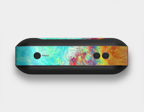 The Vibrant Colored Messy Painted Canvas Skin Set for the Beats Pill Plus