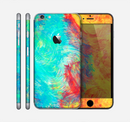 The Vibrant Colored Messy Painted Canvas Skin for the Apple iPhone 6 Plus