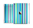 The Vibrant Colored Stripes Pattern V3 Full Body Skin Set for the Apple iPad Mini 3