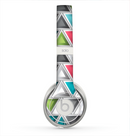 The Vibrant Colored Triangled 3d Shapes Skin for the Beats by Dre Solo 2 Headphones