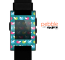 The Vibrant Colored Vector Bird Collage Skin for the Pebble SmartWatch es