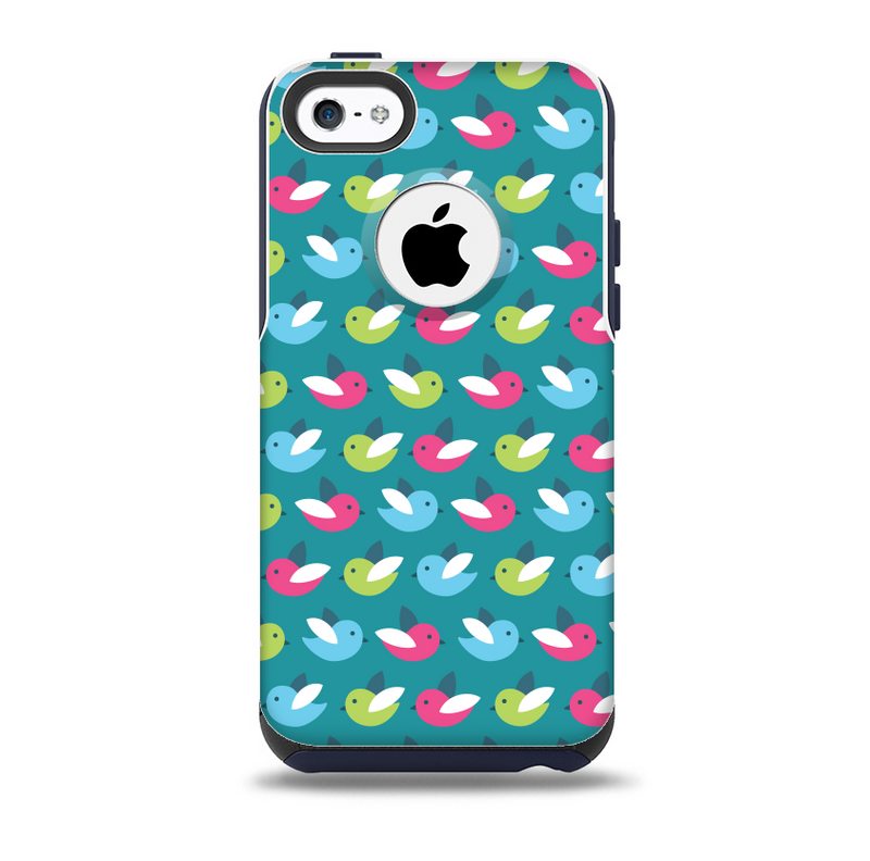 The Vibrant Colored Vector Bird Collage Skin for the iPhone 5c OtterBox Commuter Case