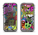 The Vibrant Colored Vector Graffiti Apple iPhone 5c LifeProof Nuud Case Skin Set