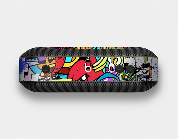 The Vibrant Colored Vector Graffiti Skin Set for the Beats Pill Plus