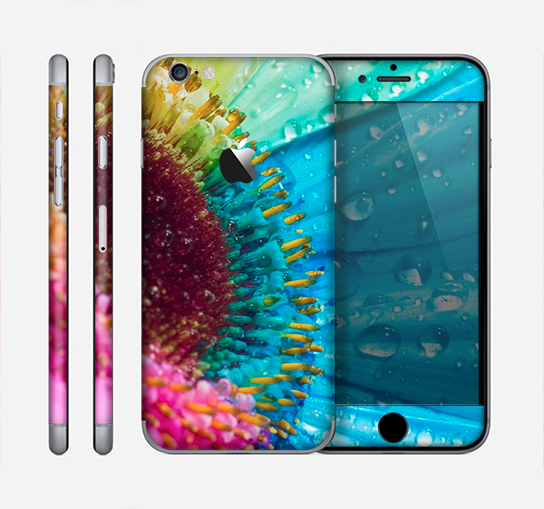 The Vibrant Colored Wet Flower Skin for the Apple iPhone 6