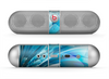 The Vibrant Curving Blue HD Lines Skin for the Beats by Dre Pill Bluetooth Speaker