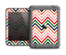 The Vibrant Fall Colored Chevron Pattern Apple iPad Air LifeProof Fre Case Skin Set