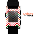 The Vibrant Fall Colored Chevron Pattern Skin for the Pebble SmartWatch