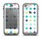 The Vibrant Fun Colored Pattern Hoops Inverted Polka Dot Apple iPhone 5c LifeProof Nuud Case Skin Set