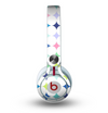 The Vibrant Fun Colored Pattern Hoops Inverted Polka Dot Skin for the Beats by Dre Mixr Headphones