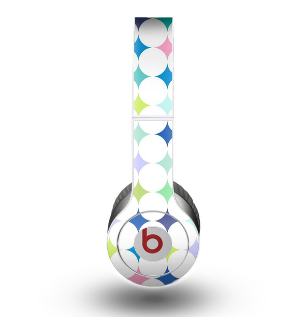 The Vibrant Fun Colored Pattern Hoops Inverted Polka Dot Skin for the Beats by Dre Original Solo-Solo HD Headphones