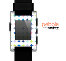 The Vibrant Fun Colored Pattern Hoops Inverted Polka Dot Skin for the Pebble SmartWatch