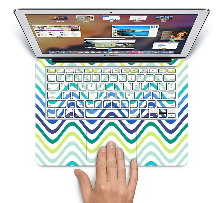 "The Vibrant Fun Colored Pattern Swirls Skin Set for the Apple MacBook Pro 15"" with Retina Display"
