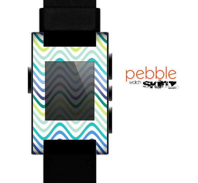 The Vibrant Fun Colored Pattern Swirls Skin for the Pebble SmartWatch