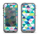 The Vibrant Fun Colored Triangular Pattern Apple iPhone 5c LifeProof Nuud Case Skin Set