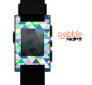 The Vibrant Fun Colored Triangular Pattern Skin for the Pebble SmartWatch