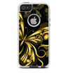 The Vibrant Gold Butterfly Outline Skin For The iPhone 5-5s Otterbox Commuter Case