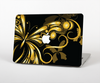 The Vibrant Gold Butterfly Outline Skin Set for the Apple MacBook Air 13""