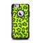 The Vibrant Green Cheetah Apple iPhone 6 Otterbox Commuter Case Skin Set